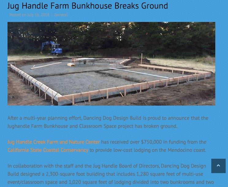 Jughandle Farm bunkhouse