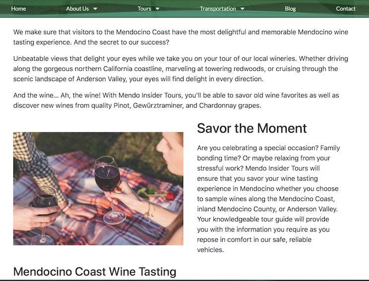 Mendocino Coast Wine Tours - Marinela Miclea